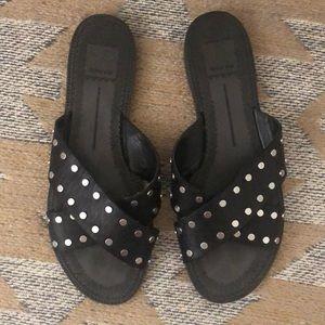 Dolce Vita Black Slide Sandals